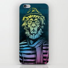 Hipster Lion Black and White iPhone & iPod Skin