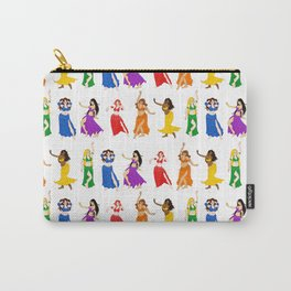 Belly Dancers - Rainbow Colors Carry-All Pouch