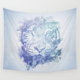 Abstract Watercolor Tiger Portrait / Face Wall Tapestry