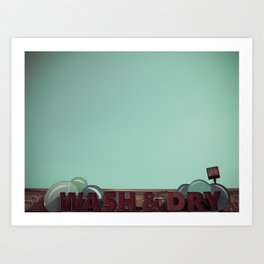 Wash and Dry Art Print