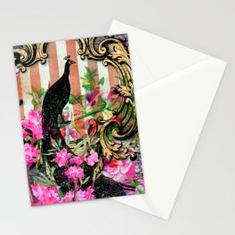Peacock in Elegant Parisienne Style Stationery Cards