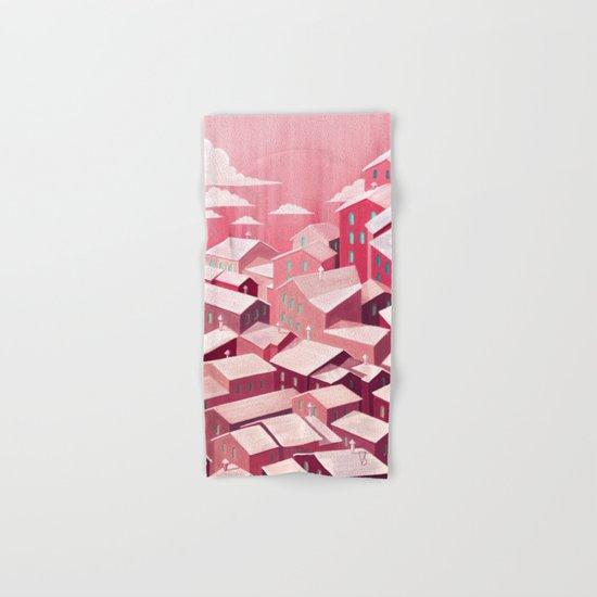 pink city Hand & Bath Towel