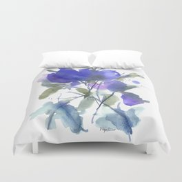 Bluest Blue Bloom Duvet Cover