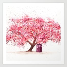 Tardis Tree Art Blossom Art Print