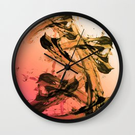 Calm and Fiery Abstraction Wall Clock