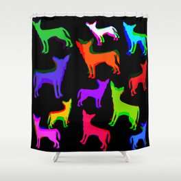 Chihuahua Pattern Shower Curtain