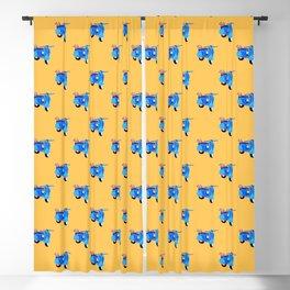 Blue vintage vespa Blackout Curtain