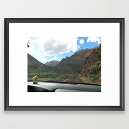 Lola on the Road Framed Art Print