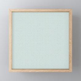 White Christmas Wallpaper Pattern Framed Mini Art Print
