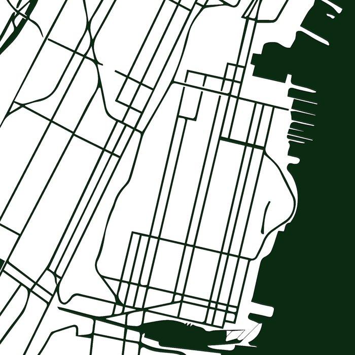 New York City White on Green Street Map Leggings