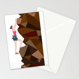 Vintage Cool Girl Rock Climbing Stationery Cards
