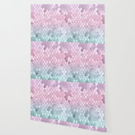Mermaid Glitter Scales #2 #shiny #decor #art #society6 Wallpaper