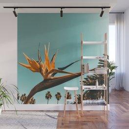Birds of Paradise Print {1 of 3} | Palm Trees Ocean Summer Beach Teal Photography Art Wall Mural