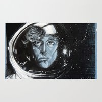 ripley Area & Throw Rugs featuring No one can hear you scream in space by Clayton Young