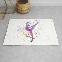 Rhythmic gymnastics competition in watercolor 07 Rug