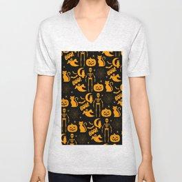 C13D Halloween Pattern Unisex V-Neck