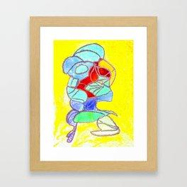 Faucet Blue Framed Art Print