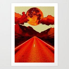 Red Road. Art Print