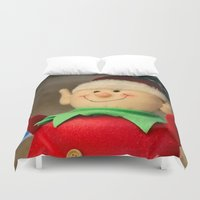 dentist Duvet Covers featuring I wanna be a dentist but my arms are too floppy! by IowaShots