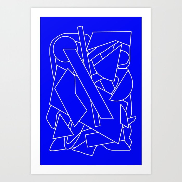 BluE humble Art Print