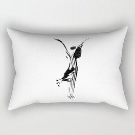 Black and white, minimalist, modern yoga pose illustration for yoga studio, yoga art, drawing, om Rectangular Pillow