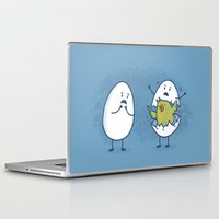 toddler Laptop & iPad Skins featuring EGGsplosion! by Monica Gifford