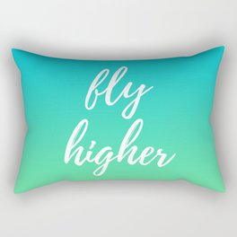 Fly Higher - Blue Green Ombre Rectangular Pillow