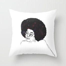 Laura Harrier - Stars and Galaxy Throw Pillow