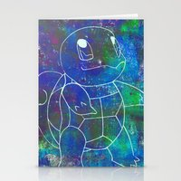 squirtle Stationery Cards featuring Squirtle by pkarnold + The Cult Print Shop
