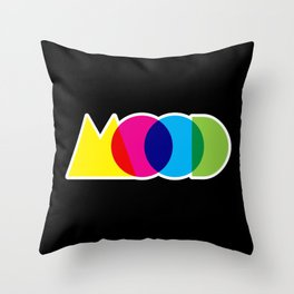 Mood Meme Colorful Geometric Typography Throw Pillow