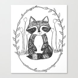 Portrait of a Raccoon Canvas Print