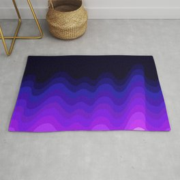 Ultraviolet Retro Ripple Rug