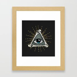All seeing eye of God Framed Art Print