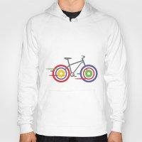 bike Hoodies featuring Bike! by Alice Wieckowska