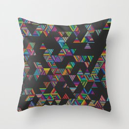 Rainbow Night Rain Throw Pillow