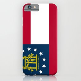 Georgia State Flag iPhone Case