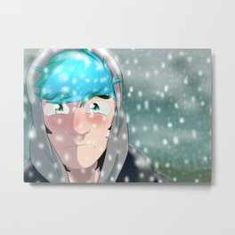 Ethan in the snow Metal Print