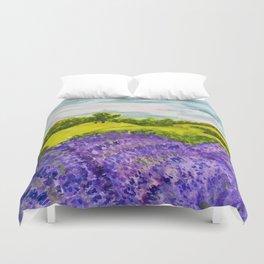 Lavender Fields Watercolor Duvet Cover