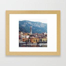 Lake Como by Boat Framed Art Print