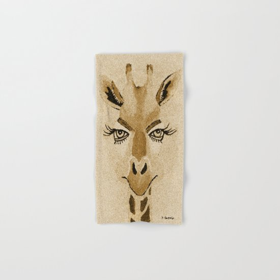Funny Giraffe Hand & Bath Towel