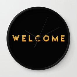 The 'Welcome' Art I Wall Clock