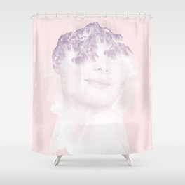 head in the mountains Shower Curtain