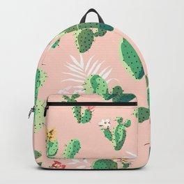 Vintage Cactus Pattern Backpack