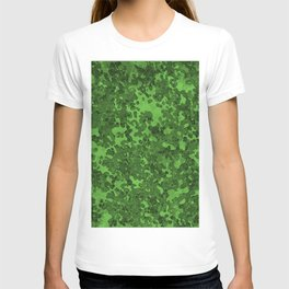 Green Hybrid Camo Pattern T-shirt