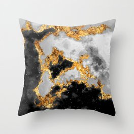 100 Starry Nebulas in Space Black and White 029 (Portrait) Throw Pillow