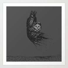 Floating Viking Art Print