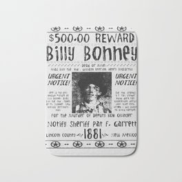 Billy Bonney Wanted Bath Mat