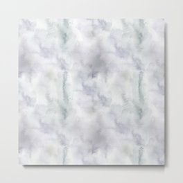 Abstract modern gray lavender watercolor pattern Metal Print