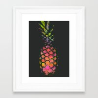 pineapple Framed Art Prints featuring Pineapple by Georgiana Paraschiv