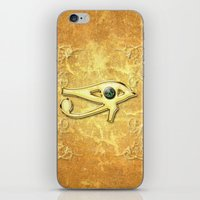 all seeing eye iPhone & iPod Skins featuring The all seeing eye by nicky2342